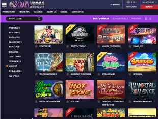 Crazy Vegas Casino Lobby