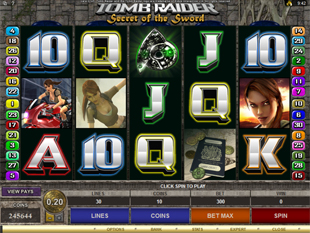 Tomb Raider - Secret of the Sword Slot Machine