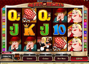 Rhyming Reels: Queen of Hearts Slot Game