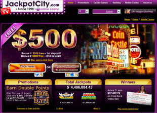 Jackpot City Casino Home