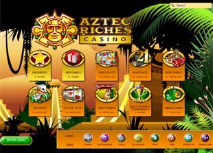 Aztec Riches Casino Lobby