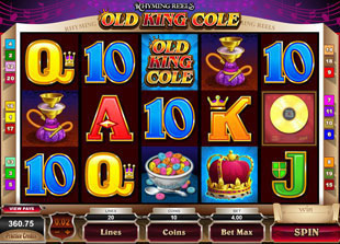 Rhyming Reels Old King Cole Slot Machine