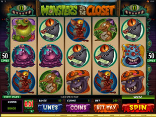 Monsters in the Closet Slot Machine